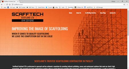News - New website launch Scafftech Scotland Ltd